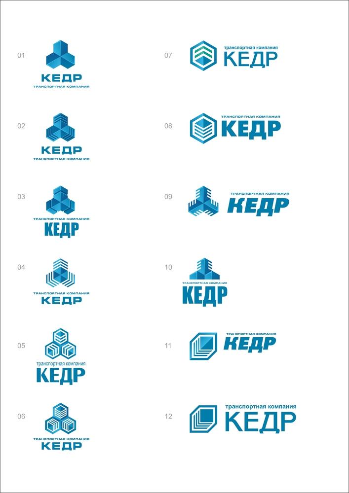 Создание логотипа компании ТЭК Кедр