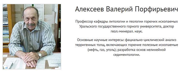 Сайт-визитка для профессора Алексеева В.П.